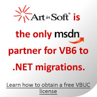 ArtinSoft is the only MSDN partner for VB6 to .NET migrations