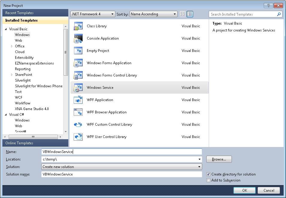VB6 Windows Service